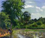 Ducks on the Pond at Montfoucault