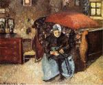 Elderly Woman Mending Old Clothes, Moret