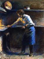 Eugene Murer at His Pastry Oven