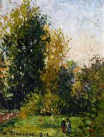 Landscape with Two Figures, Eragny, Autumn