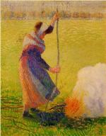 Woman Burning Wood