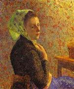 Woman with a Green Scarf