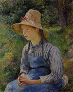 Young Peasant Girl Wearing a Hat