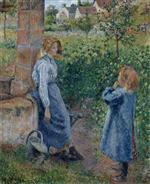 Young Woman and Child at the Well