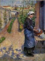 Young Woman Washing Plates