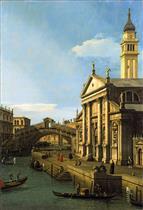 Capriccio: The Rialto Bridge and the Church of San Giorgio Maggiore
