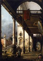 Perspective View with Portico
