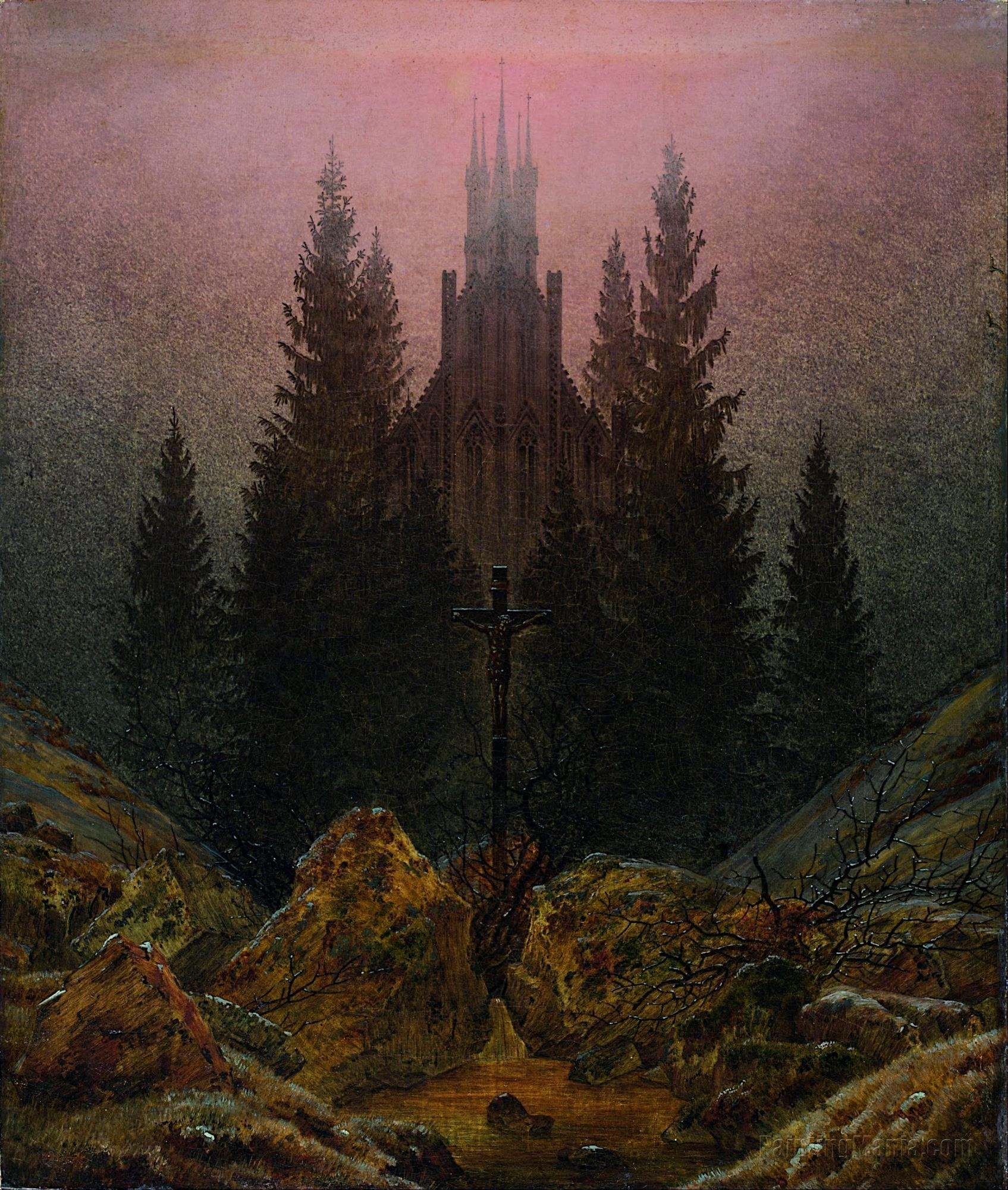 Cross and Cathedral in the Mountains