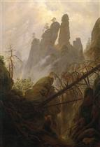 Rocky Landscape in the Elbsandsteingebirge