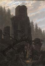 Ruins at Dusk (Church Ruins in the Forest)
