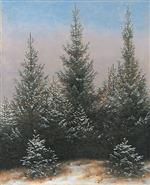 Spruce Thicket in the Snow (From the Dresdner Heide I)