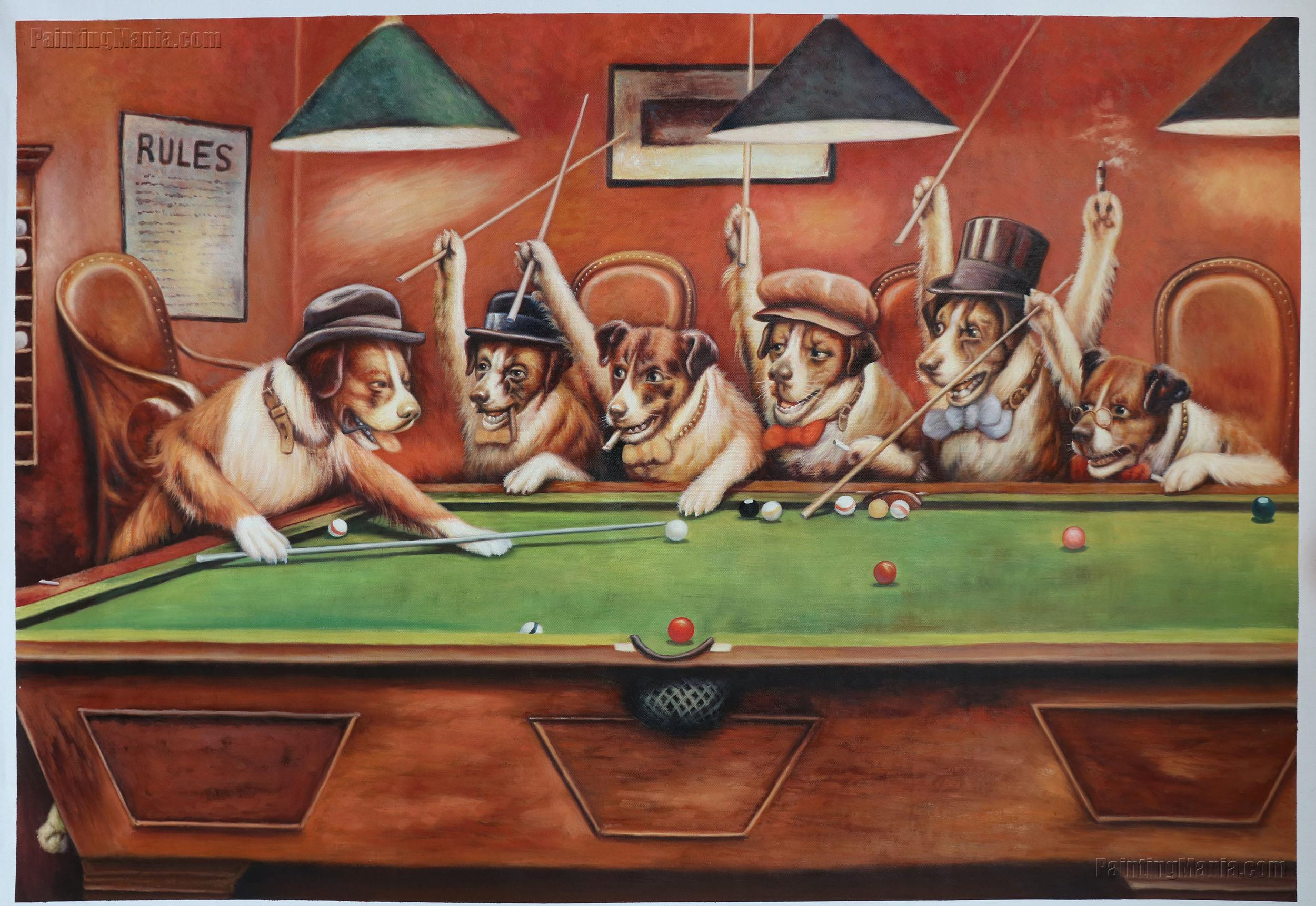 7d01172dce2 Dogs Playing Pool - Cassius Marcellus Coolidge Paintings
