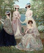 Four Ladies on a Terrace