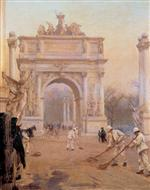 Early Morning, Madison Square (The Dewey Arch)
