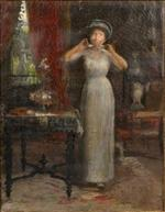 Interior Scene with Girl in White