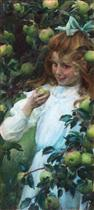 In the Orchard (Green Apples)