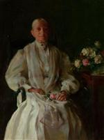 Portrait of a Lady with Flowers