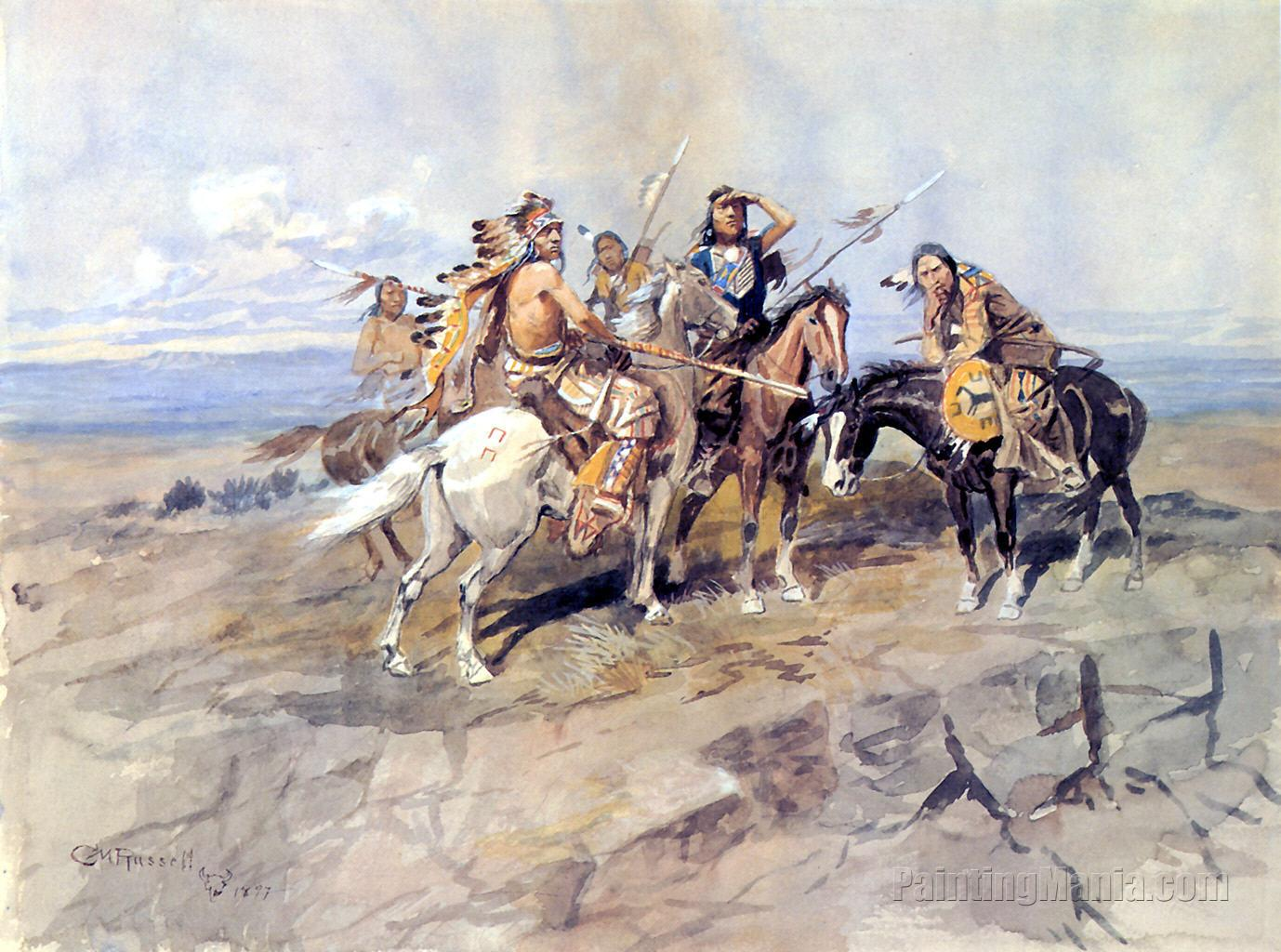 Approach of the White Men 1897