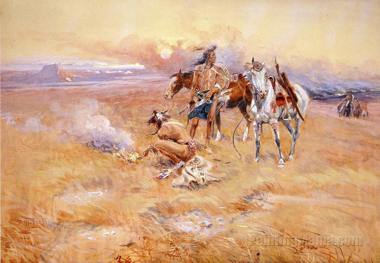 Blackfeet Burning Crow Buffalo Range