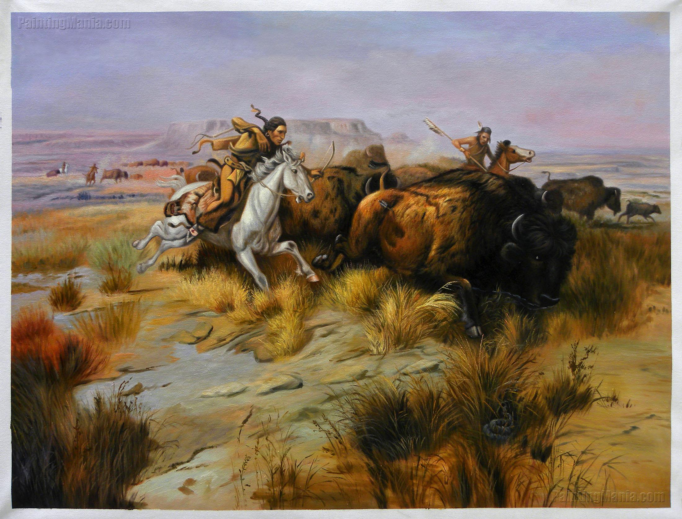 Indian Buffalo Hunt (Land Of Good Hunting)