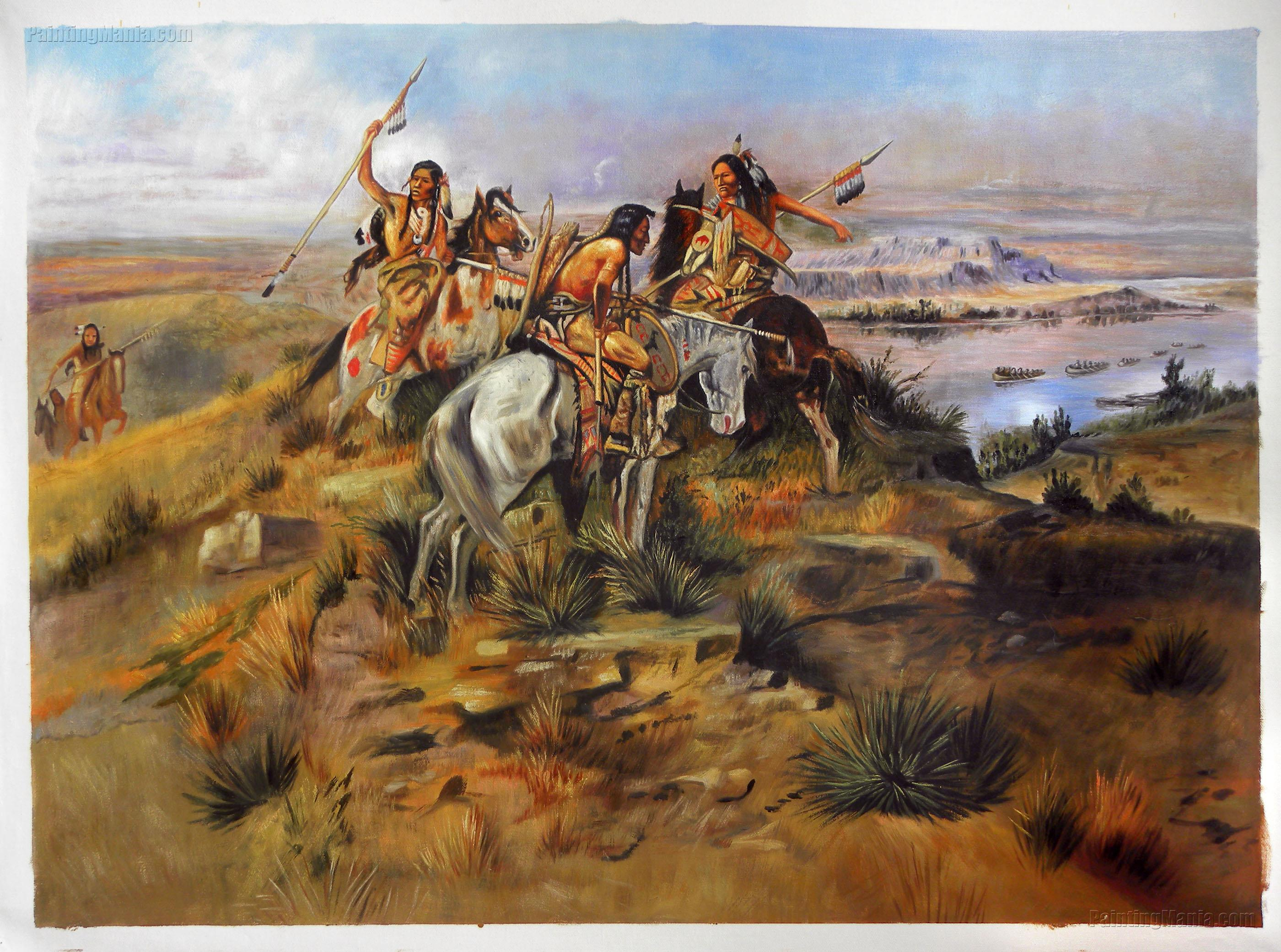 Indians Discovering Lewis and Clark