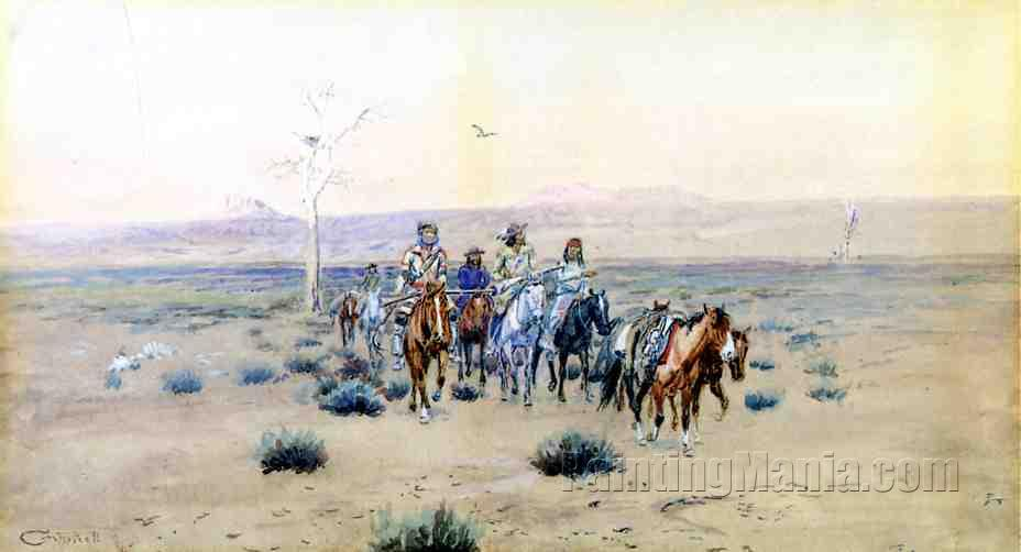 Trappers Crossing the Prarie