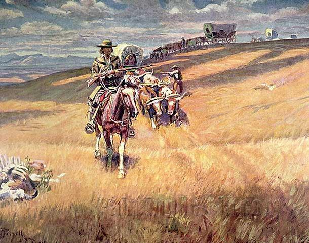 When Wagon Trails Were Dim