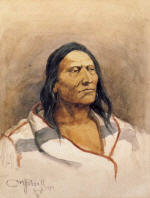 Blackfeet Indian with Capote