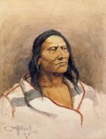 Blackfeet Indian with Capote