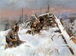 Crow Indians Hunting Elk