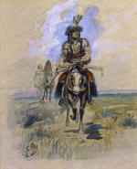 Indian on Horseback 2