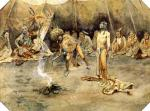 Sioux Torturing a Blackfoot Brave