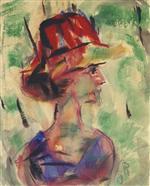 Female Portrait (Presumably Helene Rohlfs)