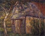 Gartenhaus unter Baumen