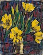 Gelbe Tulpen in Heller Vase