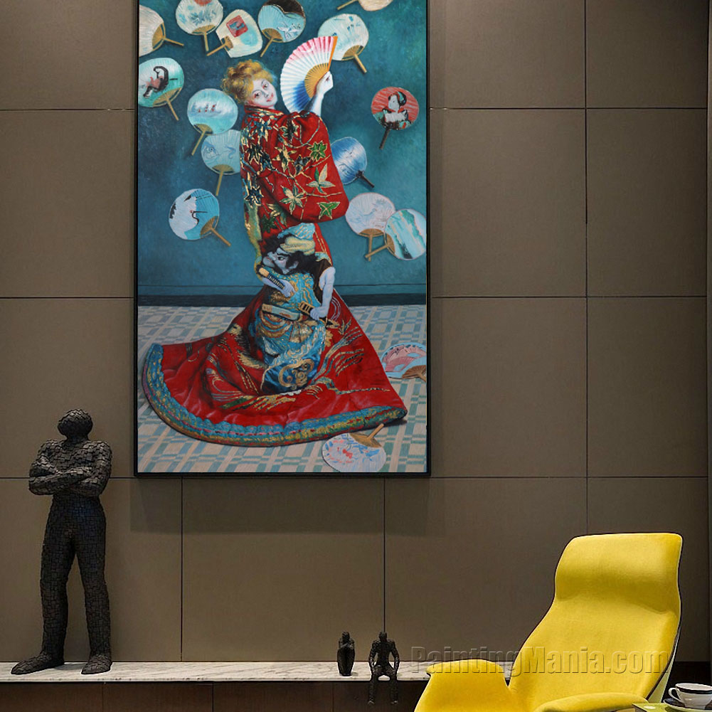 madame monet in japanese costume la japonaise claude monet paintings. Black Bedroom Furniture Sets. Home Design Ideas