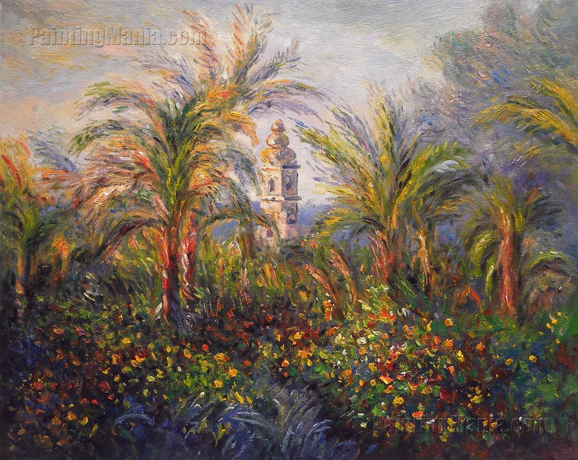 Garden in Bordighera, Impression of Morning - Claude Monet Paintings