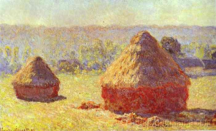 Haystack. End of the Summer. Morning
