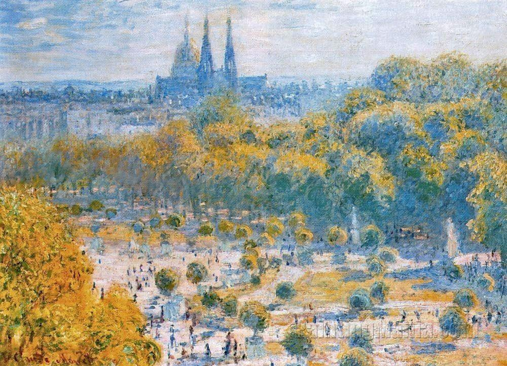 Le jardin des tuileries claude monet paintings - Les jardins de monet ...