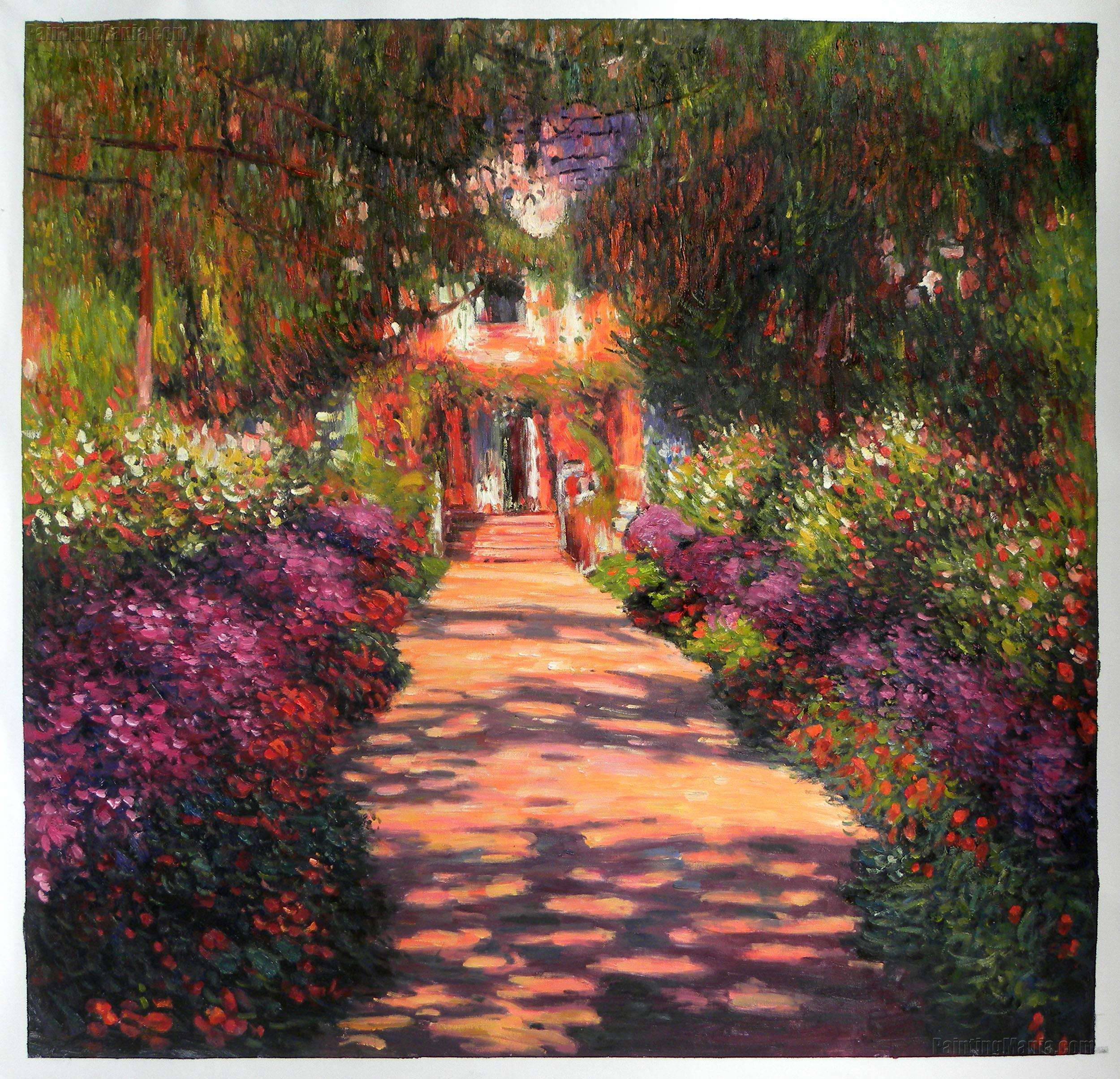 Pathway in Monet\'s Garden at Giverny 1902 - Claude Monet Paintings