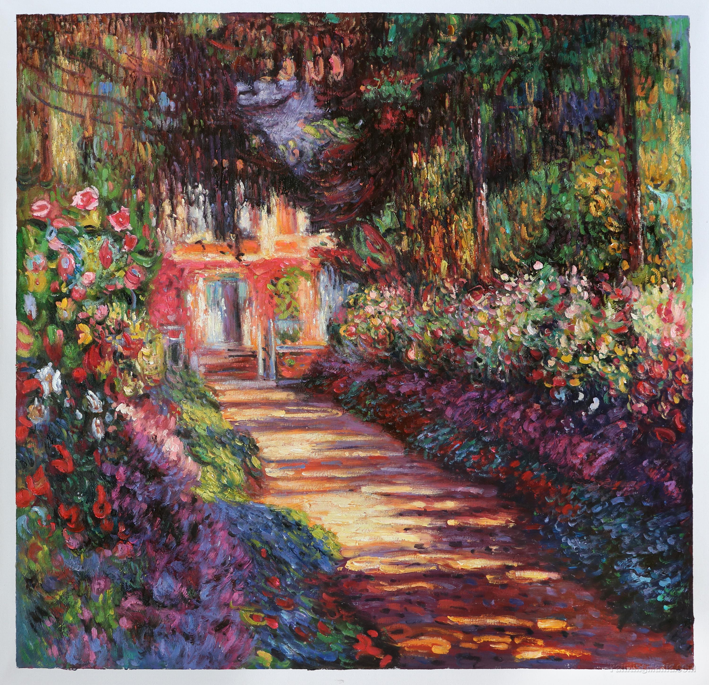 Bon Pathway In Monetu0027s Garden At Giverny