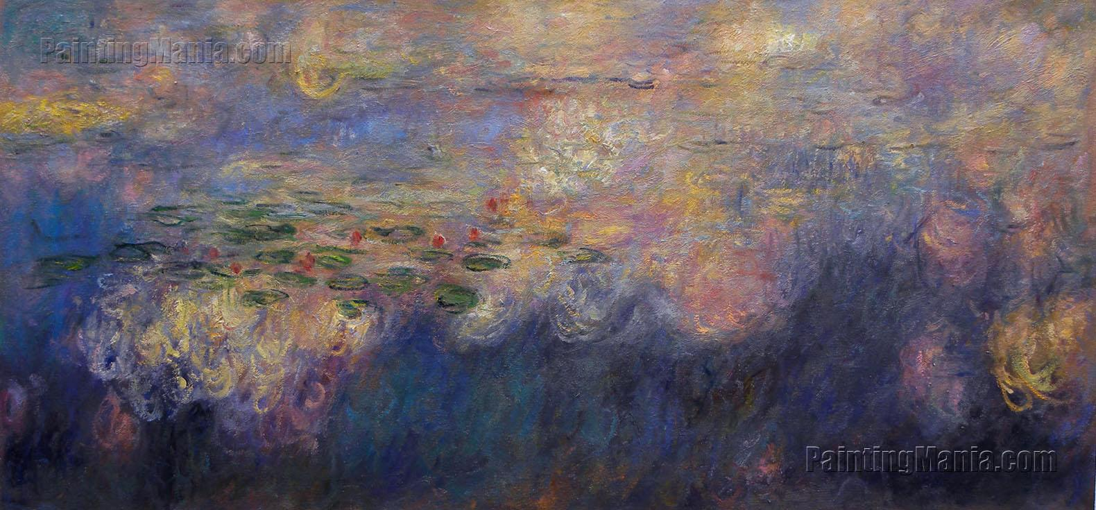 Reflections of Clouds on the Water-Lily Pond (triptych, center panel)