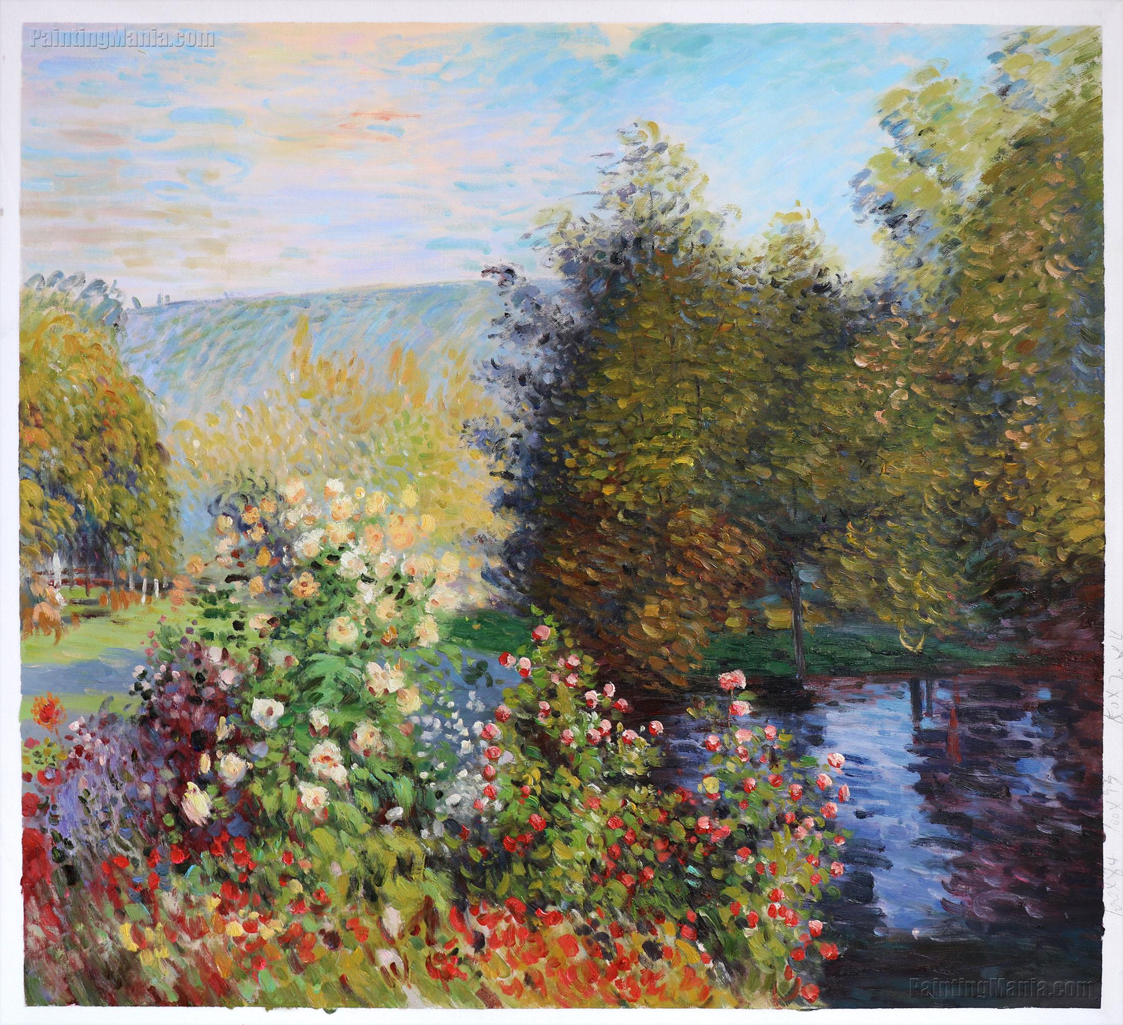 roses in the hoshede 39 s garden at montregon claude monet paintings. Black Bedroom Furniture Sets. Home Design Ideas