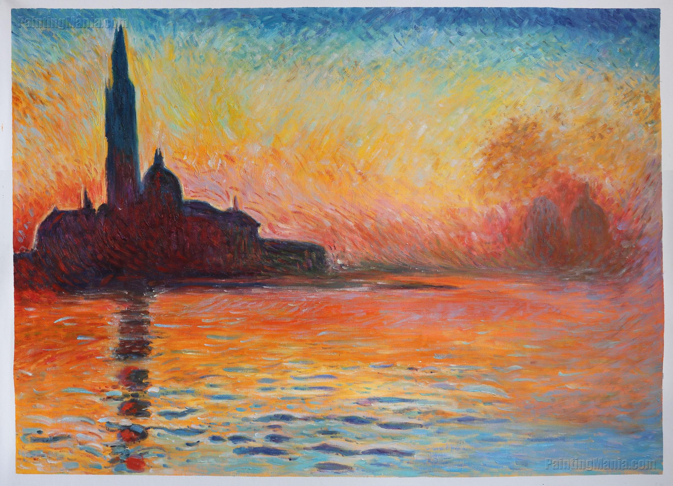 san giorgio maggiore by twilight claude monet paintings. Black Bedroom Furniture Sets. Home Design Ideas