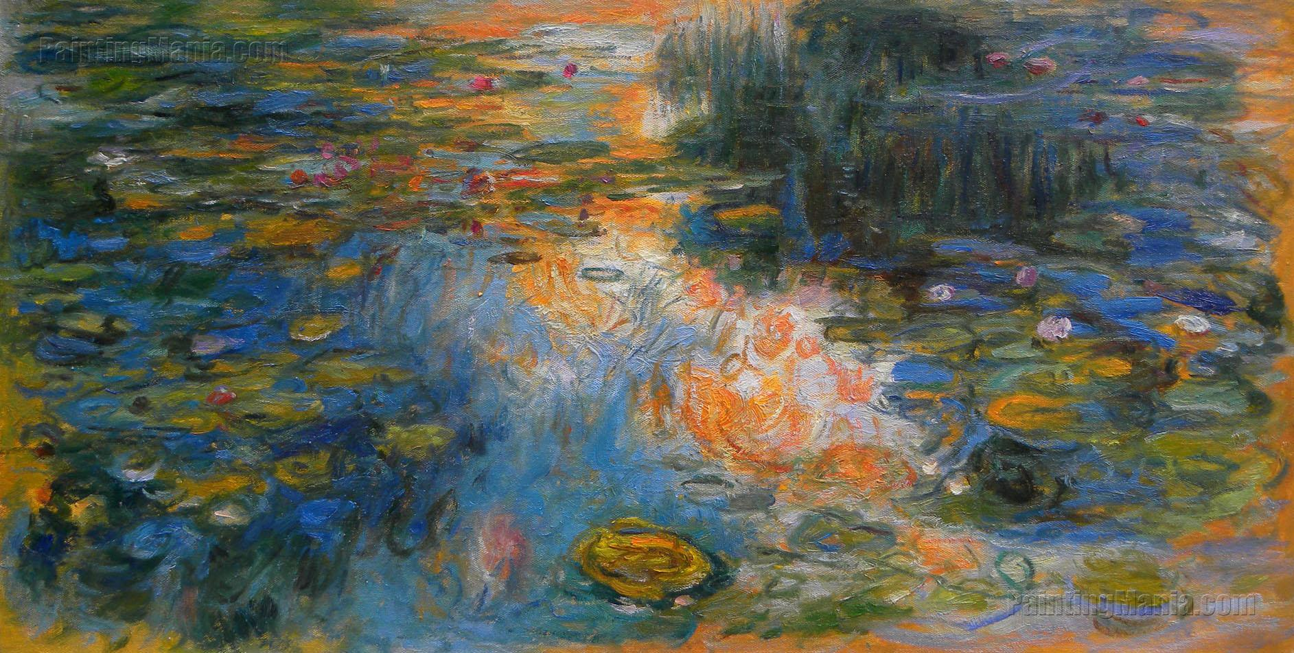 The Water-Lily Pond 1 - Claude Monet Paintings