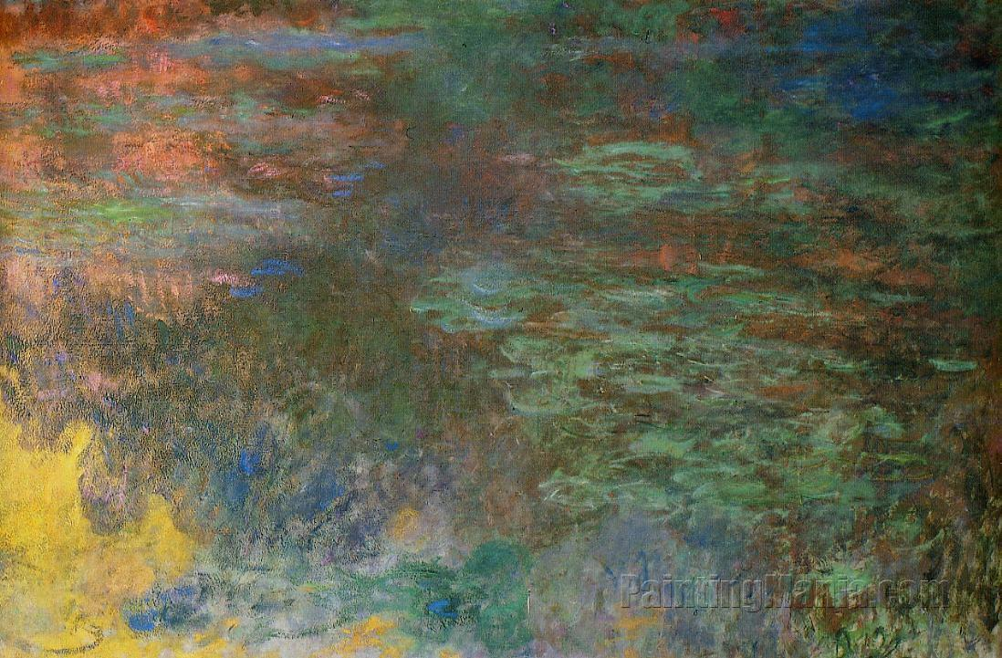 Water-Lily Pond, Evening (right panel)
