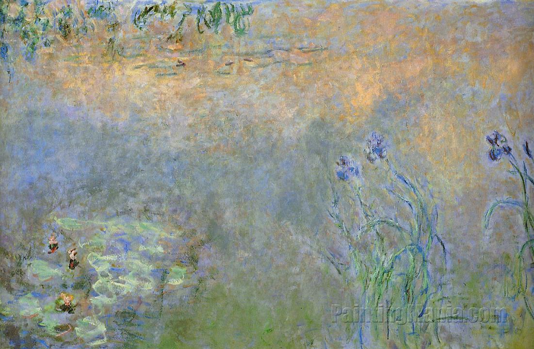 Water-Lily Pond with Irises