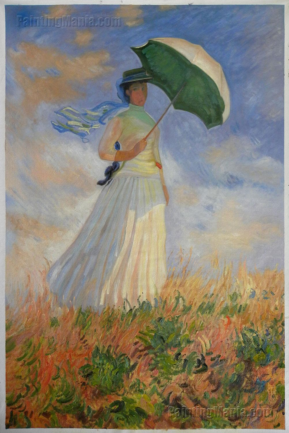 Woman with a Parasol Facing Right