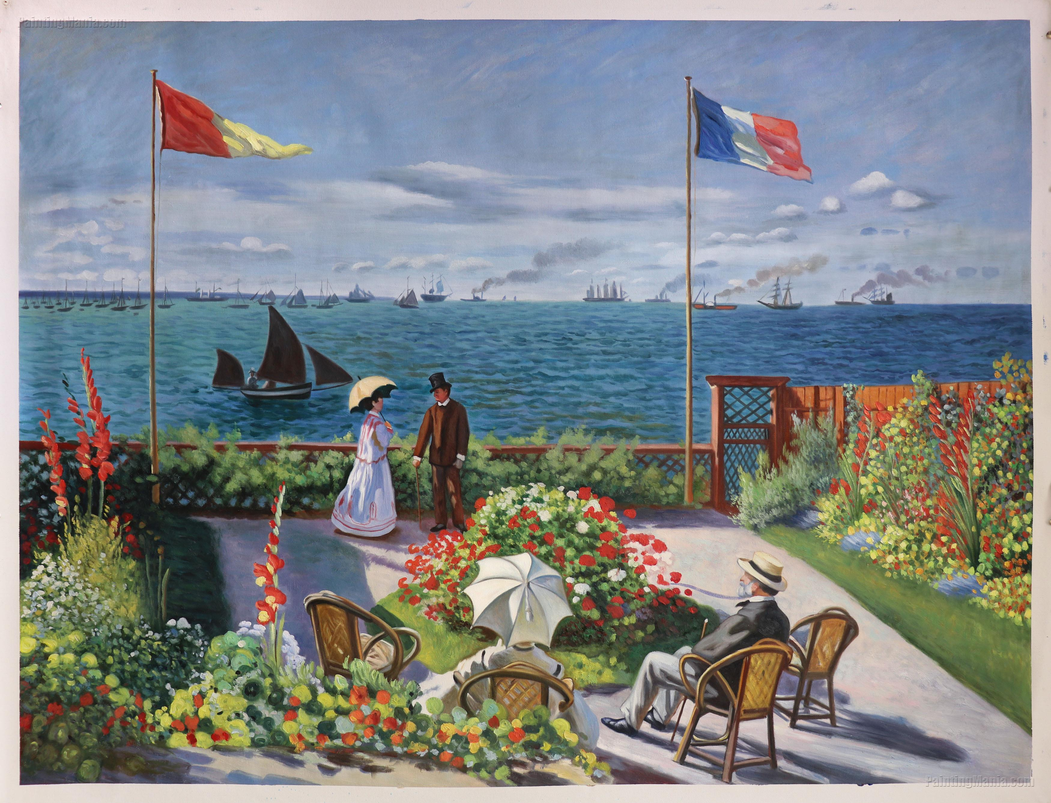garden at sainte adresse claude monet paintings