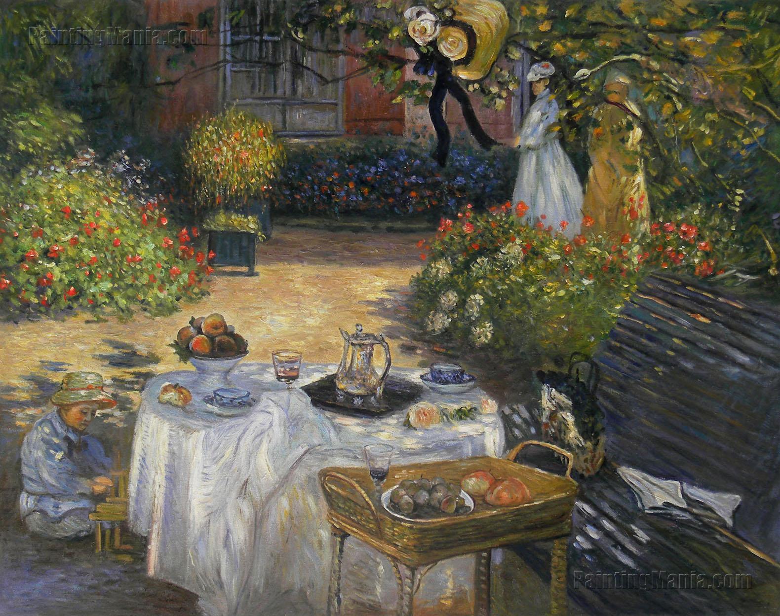 the luncheon monet 39 s garden at argenteuil claude monet paintings